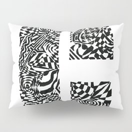 Alphabet Letter C Impact Bold Abstract Pattern (ink drawing) Pillow Sham