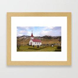 Church at Reynir South Iceland Framed Art Print