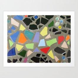 Particolour Abstract Mosaic Art Print