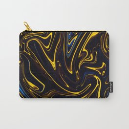 Marbled Swirl Paint Smear Design like a Bumble bee? Carry-All Pouch