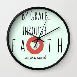 By Grace Through Faith Wall Clock