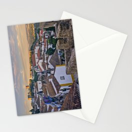 Obidos in the evening Stationery Cards