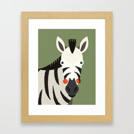 Zebra, Animal Portrait Framed Art Print