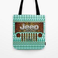 Aztec Jeep Pattern Tote Bag