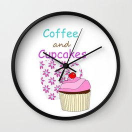Coffee And Cupcakes Wall Clock