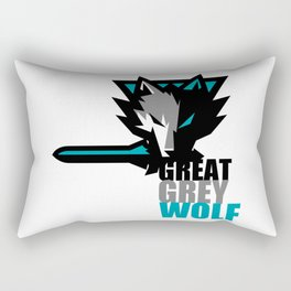 Great Grey Wolf Rectangular Pillow