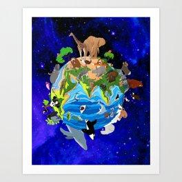 A World of Animals Art Print