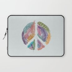 Feathers for Peace (Peace Sign) Laptop Sleeve