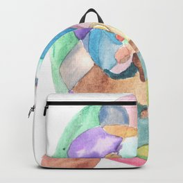 Life and Meaning 1 | Abstract Watercolors Backpack