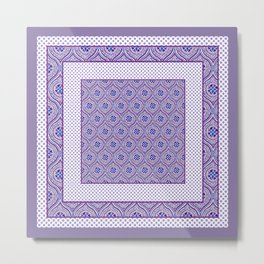 Purple Pop Mix'n'Match 3 Metal Print