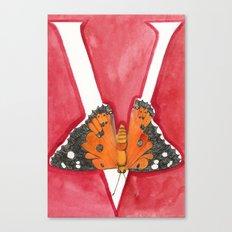 V is for Vanessa Tameamea Canvas Print