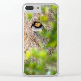 Peekaboo - A Lion Appears Clear iPhone Case