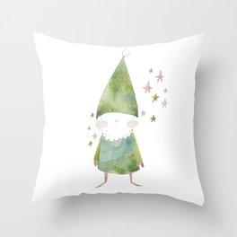 Bird Elf Throw Pillow