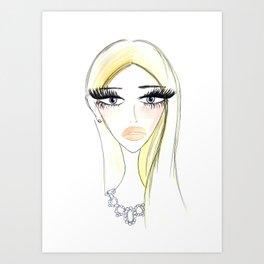 Glam Blondy Art Print