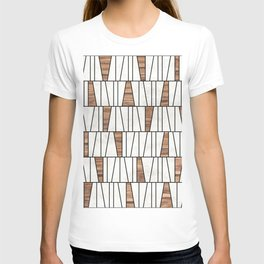 Mid-Century Modern Pattern No.4 - Concrete and Wood T-shirt