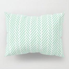 Herringbone Mint Inverse Pillow Sham