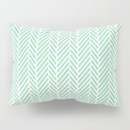 Herringbone Mint Inverse Pillow Sham