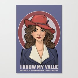I Know My Value Canvas Print