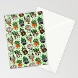 Woodland Wildflowers Animal Planters Stationery Cards