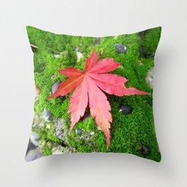 Leaf Zen Throw Pillow