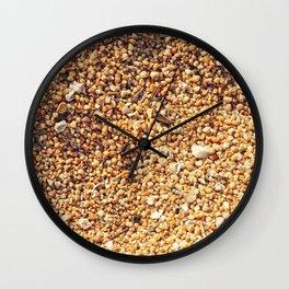 True grit - coarse sand Wall Clock
