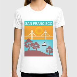 San Francisco, California - Skyline Illustration by Loose Petals T-shirt