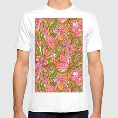 Abstract nature MEDIUM Mens Fitted Tee White