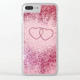 In Love Sparkling Glitter Hearts #2 #red #decor #art #society6 Clear iPhone Case
