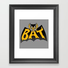 bat in a batshape Framed Art Print
