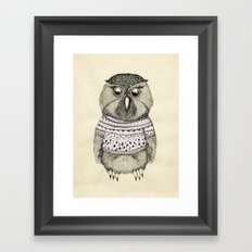 cute owl Framed Art Print