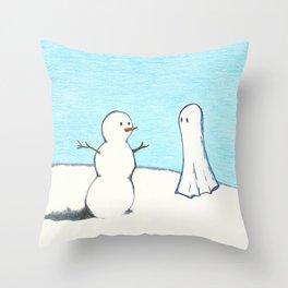 Winter Ghost Throw Pillow