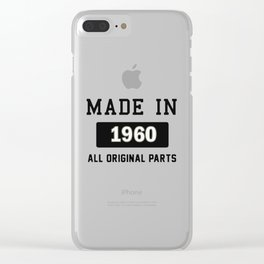 Made In 1969 Clear iPhone Case