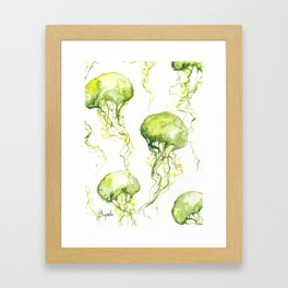 Jellyfish Pattern Framed Art Print