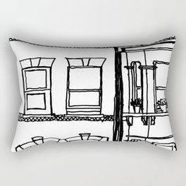 Across the road Rectangular Pillow
