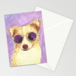 dog wearing sunglasses Stationery Cards