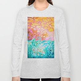Pink Beach Long Sleeve T-shirt