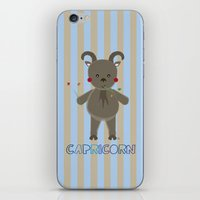 capricorn iPhone & iPod Skins featuring Capricorn by Esther Ilustra