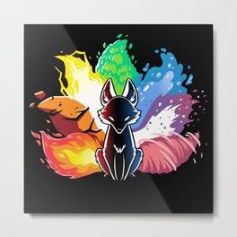 Elemental Kitsune Metal Print