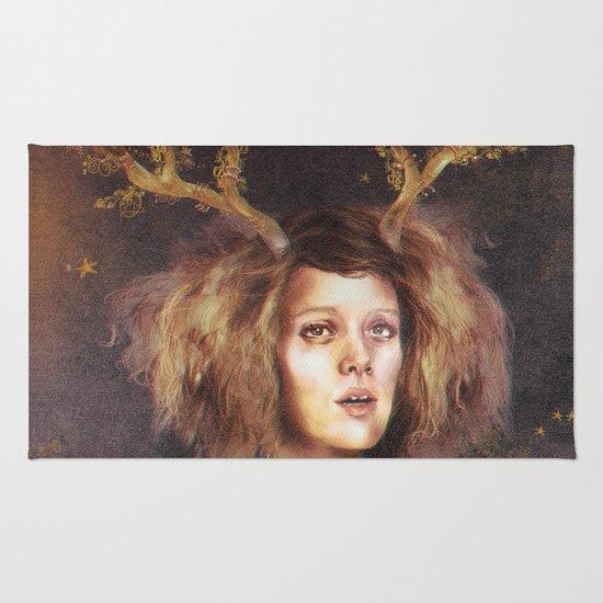 The Golden Antlers Rug