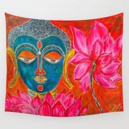 The Blue Buddha Wall Tapestry