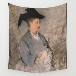 Edouard Manet - Madame Édouard Manet (Suzanne Leenhoff, 1830–1906) Wall Tapestry