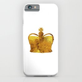 King Gold Crown iPhone Case