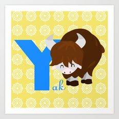 y for yak Art Print