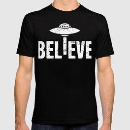 BELIEVE | UFO Alien Abduction T-shirt