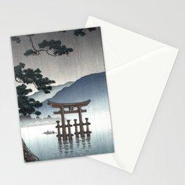 Tsuchiya Koitsu - Aki Miyajima - Japanese Vintage Woodblock Painting Stationery Cards