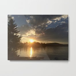 Dickey Lake, Trego Montana Metal Print