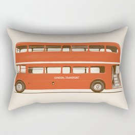 Red London Bus Rectangular Pillow