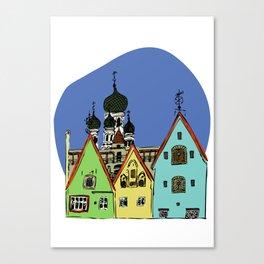 Walk in Tallinn Canvas Print