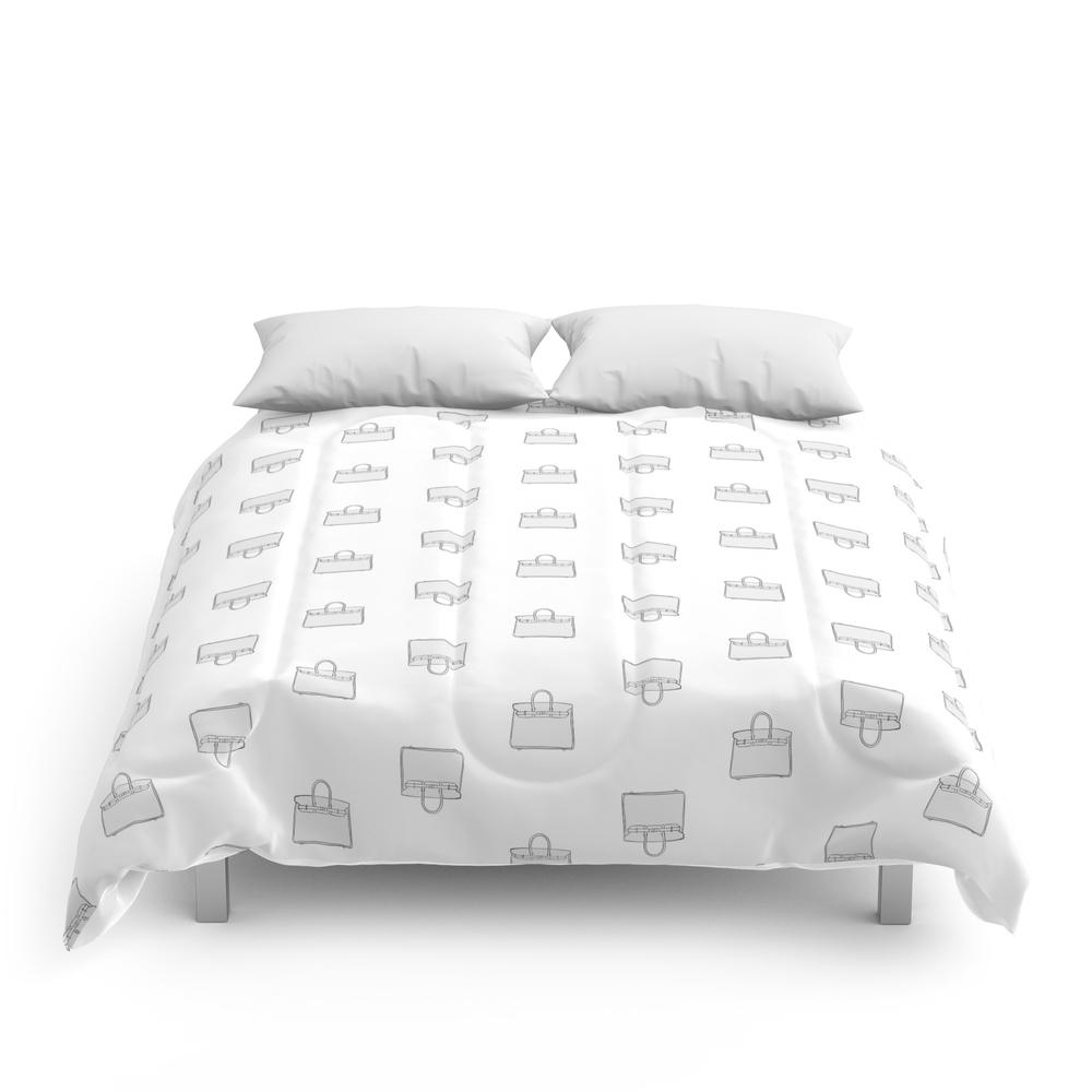 Green Birkin Vibes High Fashion Purse Illustration Comforter (CFM8661534) photo