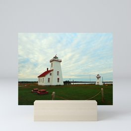 Lighthouse and Range Light of Wood Islands Mini Art Print